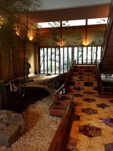 鷺の湯 中庭