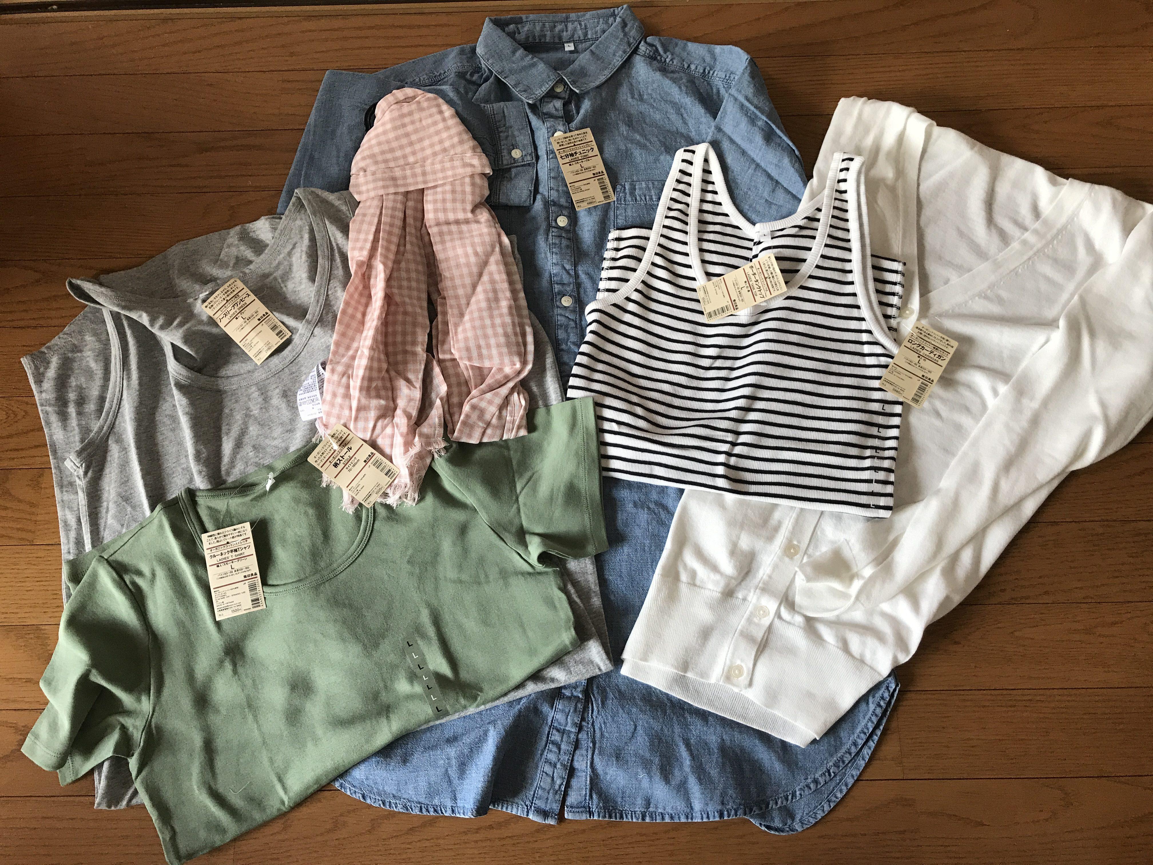【婦人L】無印良品の夏福袋ネタバレ2017!合計2万円弱の中身と感想